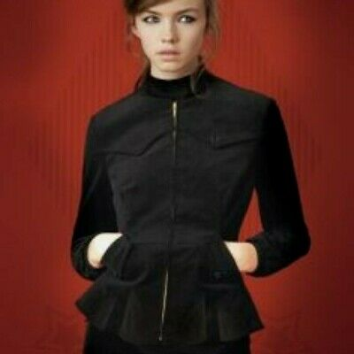 £169.99 • Buy Fred Perry Amy Winehouse Thick Black Velvet Harrington Fitted Jacket - Size 8