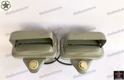 $68.41 • Buy Willys Jeep Military Front Fender Blackout  Light M38 M38a1 M170 (set Of 2)-12v