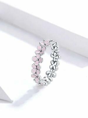 AU30 • Buy Pink Wreath Ring S925 Sterling Silver By Charm Heaven NEW