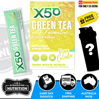 AU34.95 • Buy X50 Green Tea Limited Edition Pina Colada Flavour - 30 Serves Weight Loss Detox