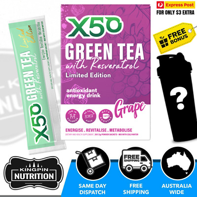 AU34.95 • Buy X50 Green Tea Limited Edition Grape Flavour - 30 Serves Weight Loss Detox Energy
