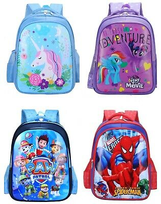 AU28.42 • Buy Kids Girl Boy Backpack School Bag Large Unicorn Pony Spider Paw Partol