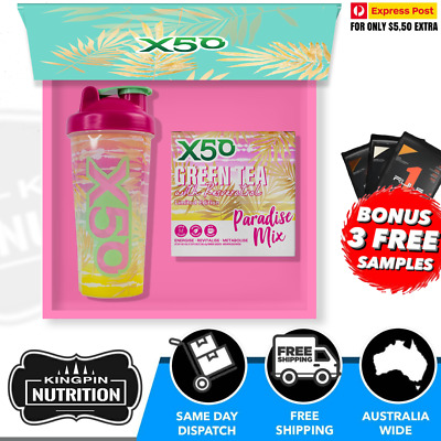 AU64.95 • Buy X50 Green Tea Limited Edition PARADISE MIX Gift Pack - 60 Serves Energy Detox