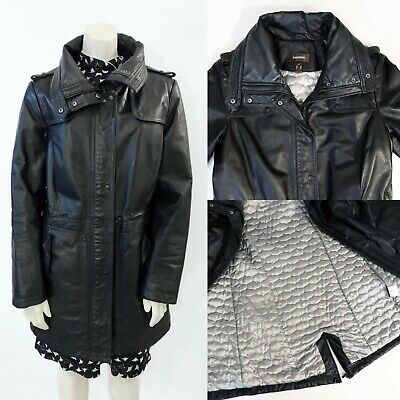 $ CDN174.99 • Buy NWOT DANIER LEATHER Thinsulate COAT Jacket SMALL US 10 EU 40 UK 12 Black Cold