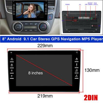 $124.79 • Buy 8  Double 2DIN Car Android  9.1 Stereo GPS Navigation MP5 Player WiFi Quad Radio