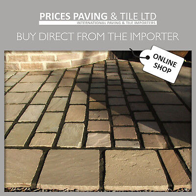 £412.80 • Buy Indian Sandstone Paving RAJ GREEN  Setts   Circle  Inc VAT And Fast UK Delivery