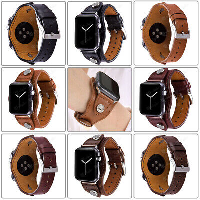 $ CDN17.85 • Buy 38/42mm Leather Bracelet Band Straps For Apple IWatch Series 6 5 4 3 2 1 40/44mm