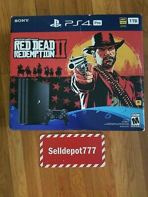 AU19.19 • Buy New Red Dead Redemption 2 PS4 Pro Bundle 1TB (RDR2 COVER ONLY)