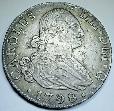 AU374.08 • Buy 1798 CN Spanish Seville 8 Reales Antique 1700's Old Colonial Silver Dollar Coin