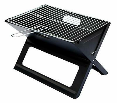 Notebook Folding Grill - Portable Picnic BBQ With Chrome Plated Cooking Grid • 38.99£