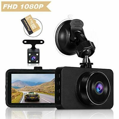 AU68.60 • Buy Dash Cams For Cars Front And Rear Full HD Night Vision 1080P Car Dash Camera,