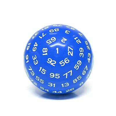 AU12.90 • Buy  Blue  Single 100 Sided Polyhedral Dice (D100) | Solid Blue Color (45mm) White