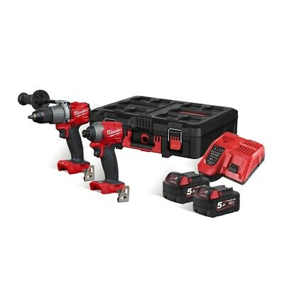 Milwaukee M18 18V Impact Driver & Combi Drill Packout Set M18FPD2 & M18FID2 • 469£