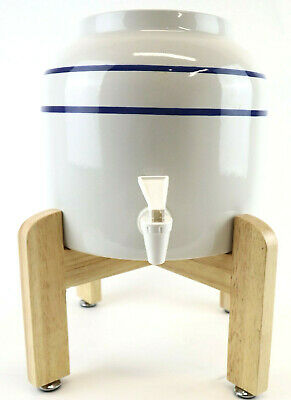 Primo Ceramic Water Dispenser & Stand Holds 3 & 5 Gallon Jugs Instant Fresh H2O • 27.55£