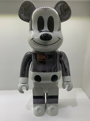 $3500 • Buy Mickey Fragment 1000% Bearbrick ( Chrome And White Version)
