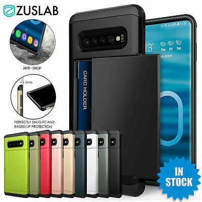 AU7.95 • Buy For Galaxy S10 S10e S9 S8 Plus Note9 Case Slide Armor Wallet Card Slots Holder