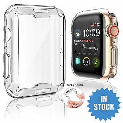 AU6.95 • Buy For Apple Watch IWatch Series SE 6 5 4 3 2 Clear Case Full Cover 38 40 42 44mm