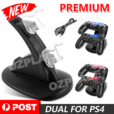 AU12.95 • Buy USB Dual Charger Dock Charging Stand Cable For PS4 Playstation Controller