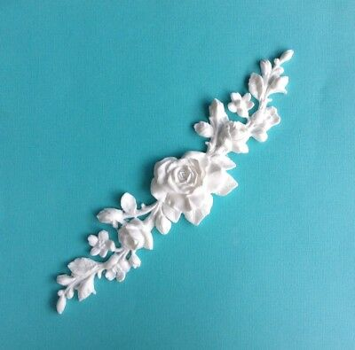 AU15.95 • Buy Shabby Chic Rose French Furniture Moulding Furniture Applique Carving Onlay