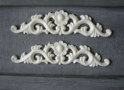AU12.45 • Buy 2x Shabby Chic French Furniture Moulding Furniture Applique Carving Onlay