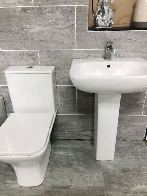 Ava Rimless Compact Toilet Inc Soft Close Seat And Basin Set With Optional Tap • 179.99£
