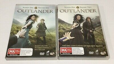 AU27.90 • Buy Outlander Season 1 Volume 1 And Season 1 Volume 2 DVD 3-Disc Sets