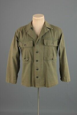 Men's 1940s WWII US Army HBT 13 Star Button OG Shirt Small 40s WW2 Jacket Vtg • 51.19£