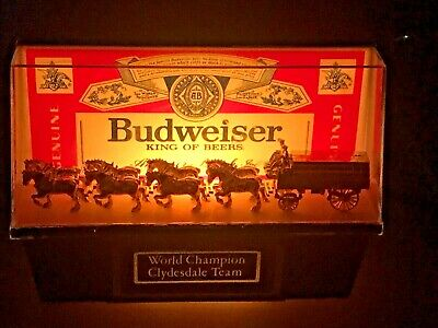 $ CDN119.71 • Buy VINTAGE BUDWEISER World Champion CLYDESDALE Team Shelf Light Model 004-130-79
