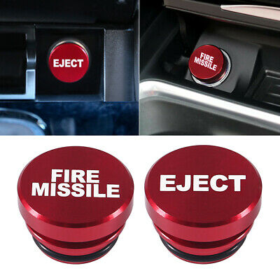$8.66 • Buy Universal Fire Missile Eject Button Car Cigarette Lighter Cover 12V Accessories