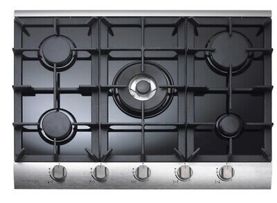 AU600 • Buy Omega OGG75A 70cm 5 Burner Glass & Stainless Steel Natural Gas Cooktop