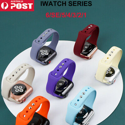 AU14.99 • Buy Soft Silicone Apple Watch Band For IWatch Series SE 6 5 4 3 2 1Strap 38/40 42/44