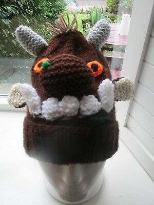 Gruffalo Hand Knitted Hat Beautiful Created Ideal Gift Knitted • 4.50£