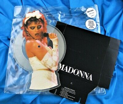 £96.60 • Buy MADONNA ANGEL 7  PICTURE DISC VINYL PROMO HYPE + PLINTH DISPLAY Burning Up 1985