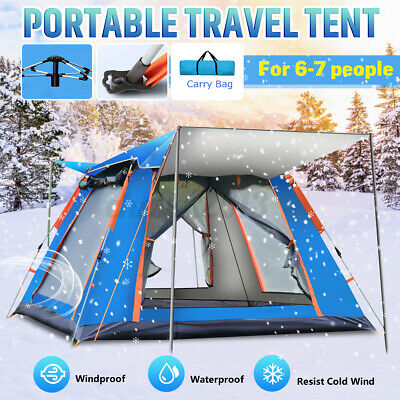 AU179.99 • Buy 6-7 Person Family Automatic Tent Portable Camping Hiking Picnic Beach Shade AU