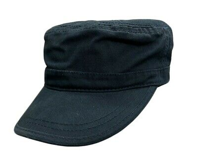£6.99 • Buy Black Chino Twill Cadet Cap Military Style Cotton Hat