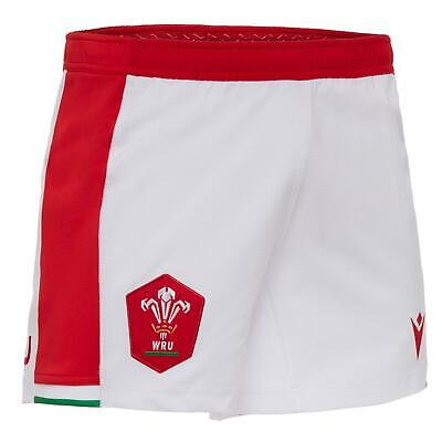 £33.99 • Buy Macron Wales Rugby Mens Home Replica Shorts   White   2020/21