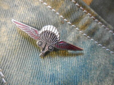 British GQ PARACHUTE / PARATROOPER Pin On BADGE Airborne Ww2  • 34.99£