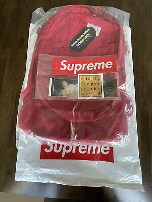 $ CDN375.95 • Buy Supreme Backpack (SS19) Red (Brand New With Stickers And Plastic Bag)