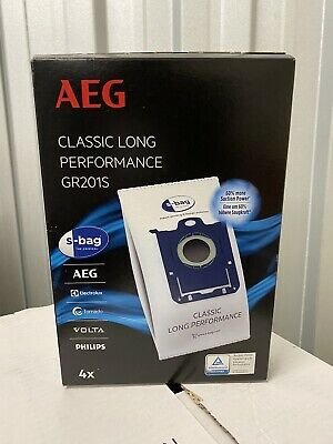 GR201S AEG ELECTROLUX Vacuum Cleaner Dust Bags - PACK OF 4 - BRAND NEW • 12.99£