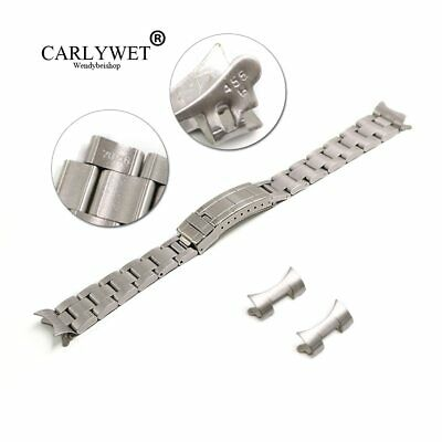 $ CDN24.50 • Buy 20mm Silver Hollow Curved End Oyster Watch Band For Bracelet Vintage Submariner