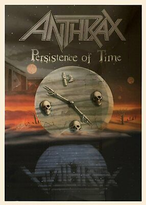 £29.08 • Buy Anthrax Persistence Of Time Vintage Original 80s 90s Album Cover Poster