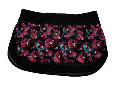 $ CDN71.92 • Buy Lululemon Women's Hotty Hot Skirt II Size 10 Black Floral Workout Running