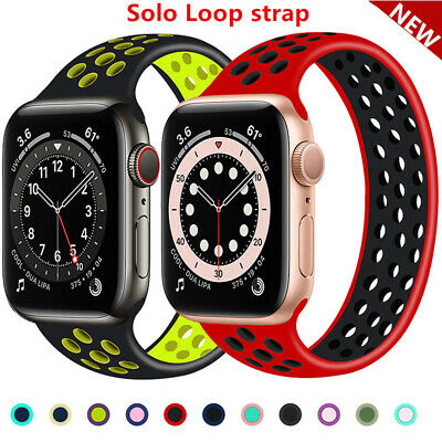 AU15.99 • Buy For Apple Watch Band Series SE 6 5 4 3 2 Solo Loop Silicone Elastic IWatch Strap