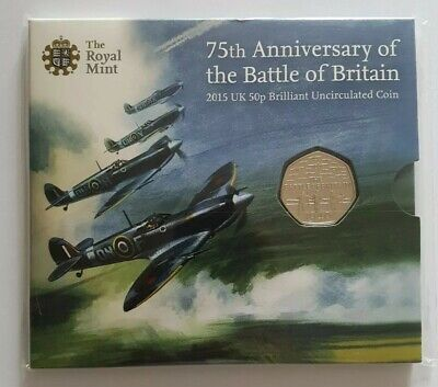 2015 Battle Of Britain Fifty Pence 50p Coin Brilliant Uncirculated BU UK BUNC  • 35.99£