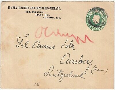 GB: GV Embossed Cover; Tea Planters And Importers Company, London-Aarberg, 1924 • 6.45£