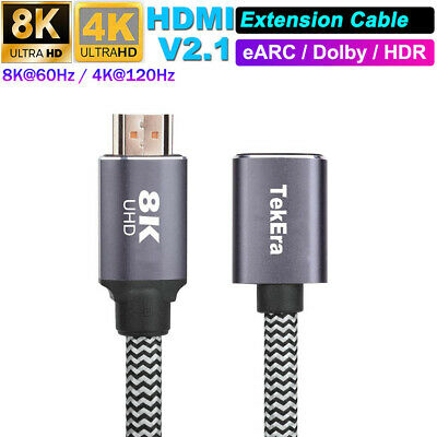 AU17.95 • Buy HDMI V2.1 Male To Female Extension Cable 8K@60Hz 48Gbps Dynamic HDR EARC