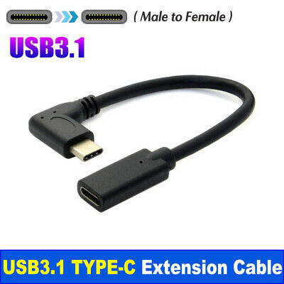 AU9.85 • Buy USB Type-c Extension Charging USB-C Male To Female Cable 90° Right Angle AC1010