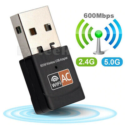 AU11.85 • Buy Dual Band 600Mbps USB WiFi Wireless Dongle AC600 Lan Network Adapter 2.4GHz 5GHz