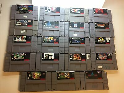 $ CDN138.81 • Buy Mixed Lot Of 19 SNES Super Nintendo Games Cartridge Only