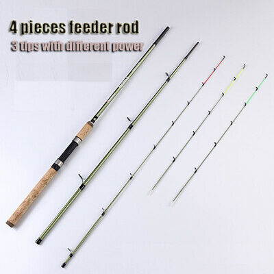 Carbon Sensitive Powerful 4 Pieces Travel Feeder Rod Carp Fishing Spinning Rod • 58.80£